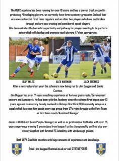 Bishop Stortford Holding open trials for u19 next week